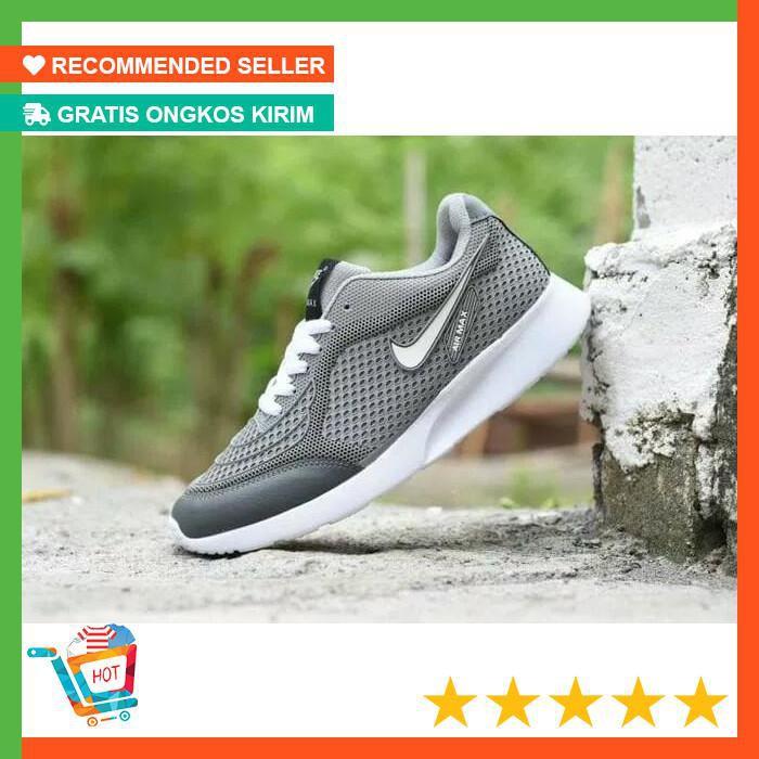 Sepatu Nike Air Max Airmax Running Casual Sport Abu Putih Pria Dewasa  Termurah Grade Original  765f987997