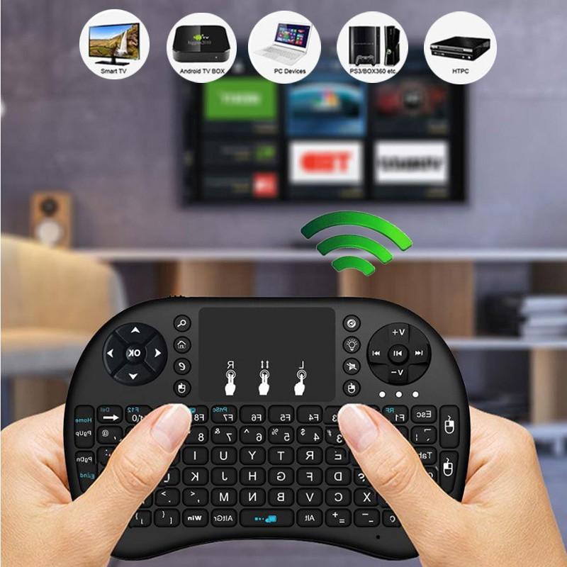 Keyboard Wireless Mini 2 4g Gaming I8 Touchpad Untuk Kodi Android