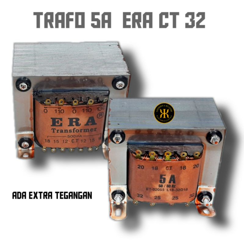 Trafo Era  5A CT 5 Ampere 32v ERA Transformator