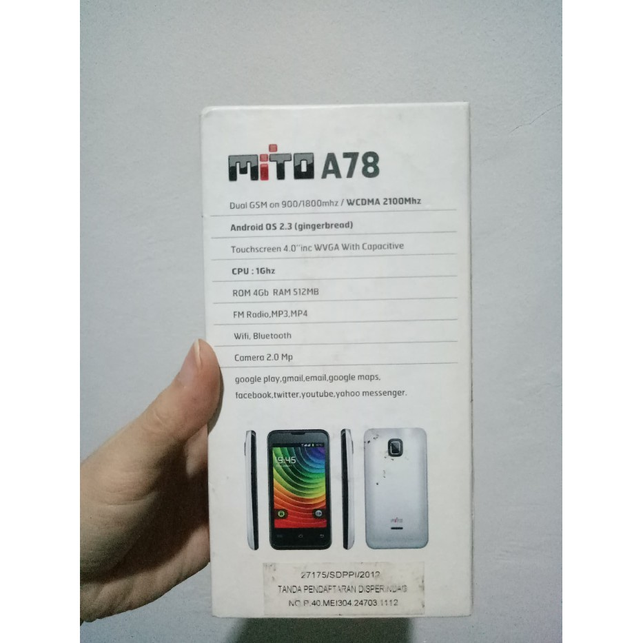 Mito A82 Shopee Indonesia A850 Android Jellybean