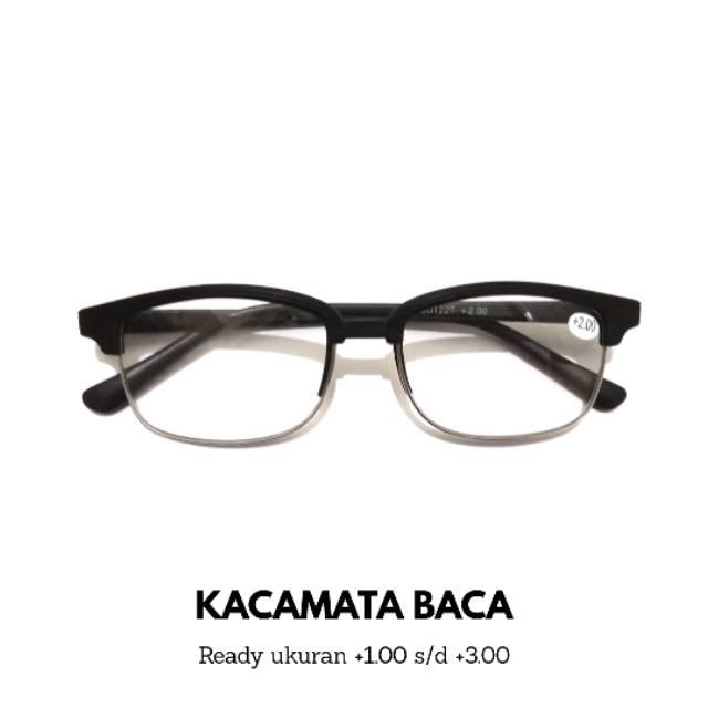 Kacamata baca PLUS Setengah Frame Pria  840e6e4c5e