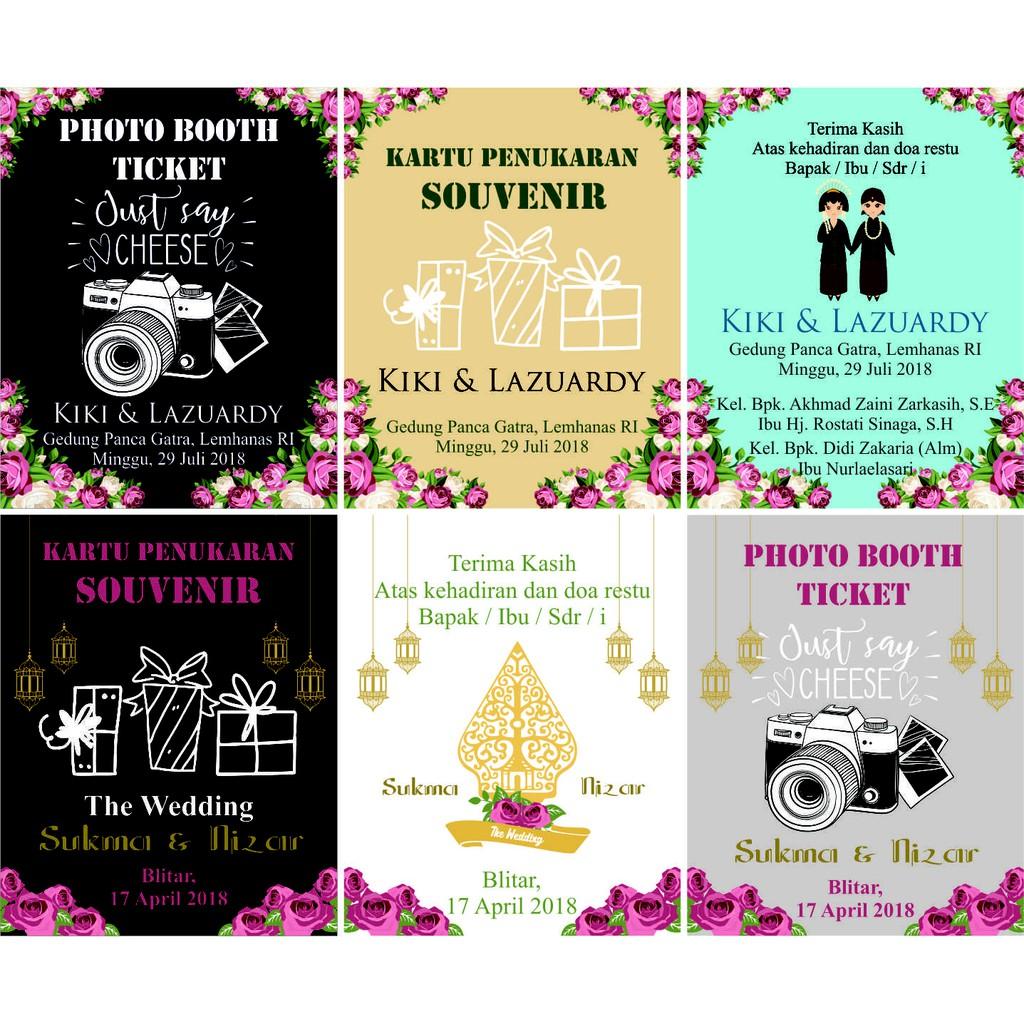 70pcs Kartu Ucapan Terima Kasih Dan Kupon Souvenir Shopee Indonesia Pernikahan 5