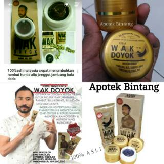 Cream Wak Doyok Asli Original Obat Penumbuh Rambut Jambang Brewok Melebatkan Bulu Kumis Bulu Dada | Shopee Indonesia