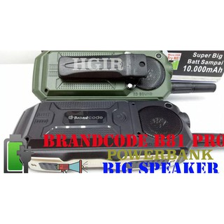 BIG SALE BRANDCODE BRANCODE B81 BATTERY HP OUTDOOR BISA POWERBANK 10.000 MAH TERLENGKAP