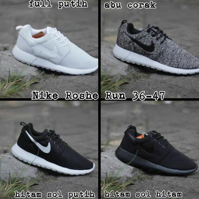 bbda853d114 Baru Sepatu Nike Roshe Run Classic Loreng Hitam For Men And Women Spesial