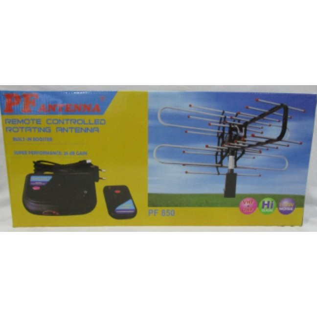 Antena PF 850 Remote Controlled Rotating Antena+Cable+Booster 28 dB | Shopee Indonesia
