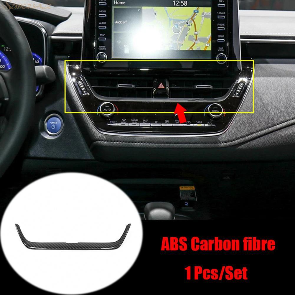Carbon Fiber Center Console Decor Strip Trim For Toyota Corolla Hatchback 2019