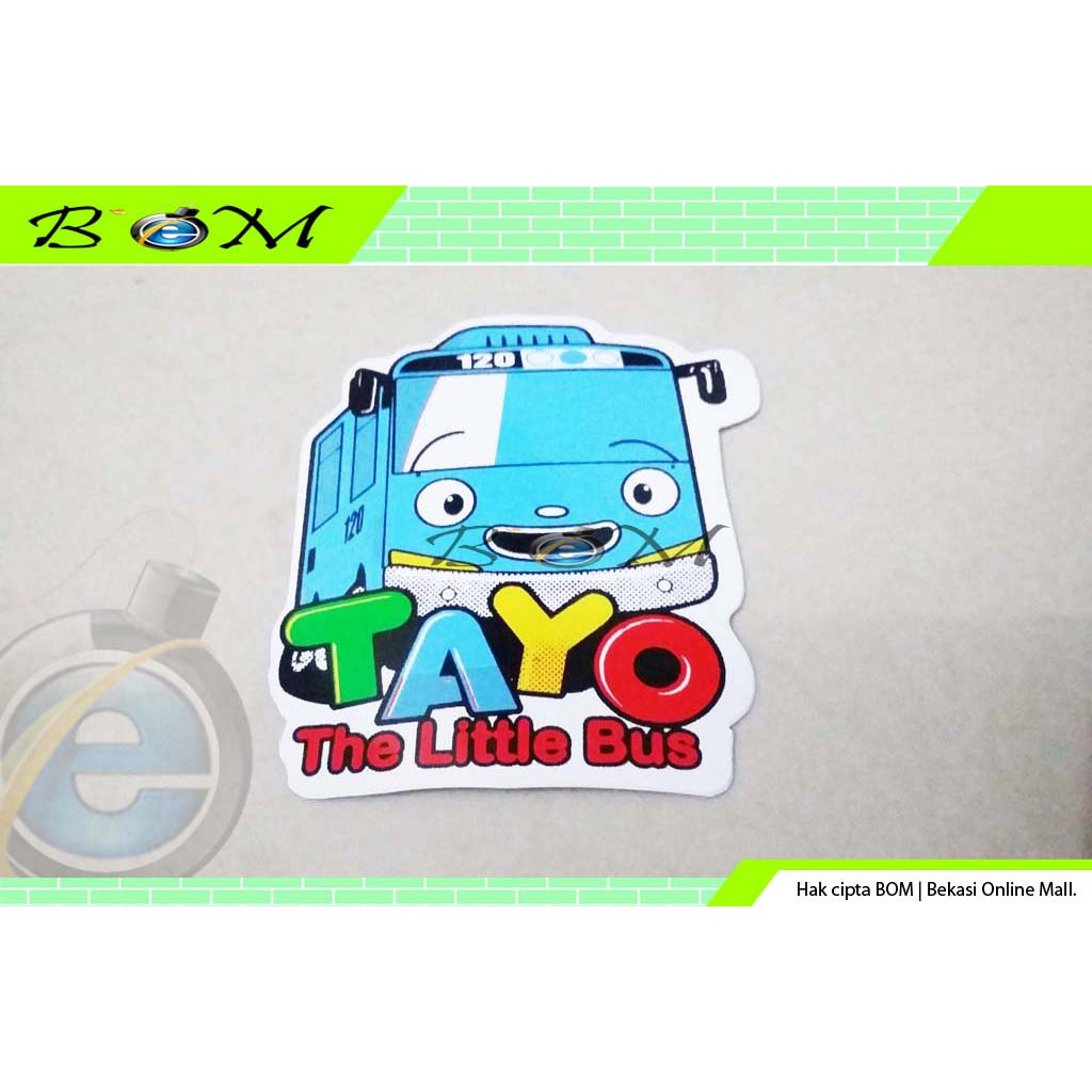 Stiker Sticker Motor Mobil Gambar Kartun Tayo The Little Bus 1