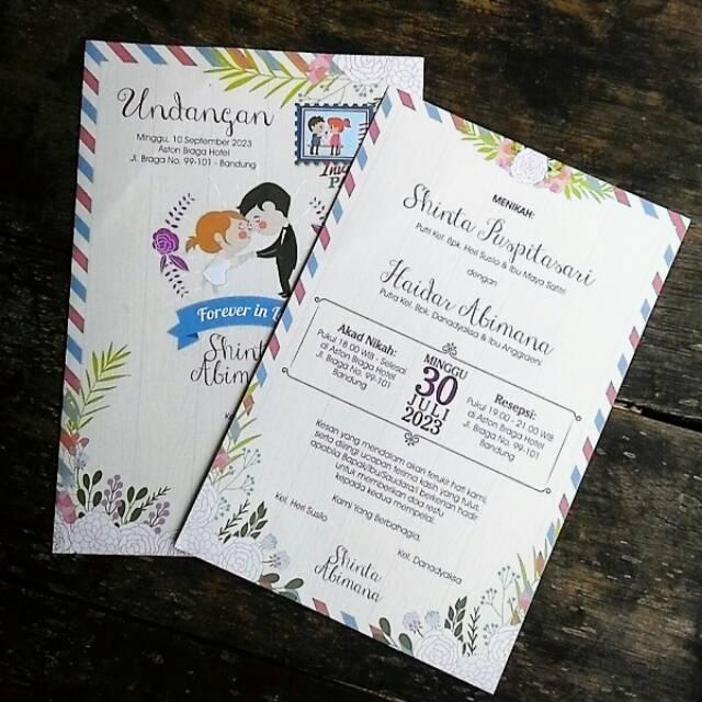 Undangan Pernikahan Amplop Cantik Dan Unik Falah 83 Shopee Indonesia