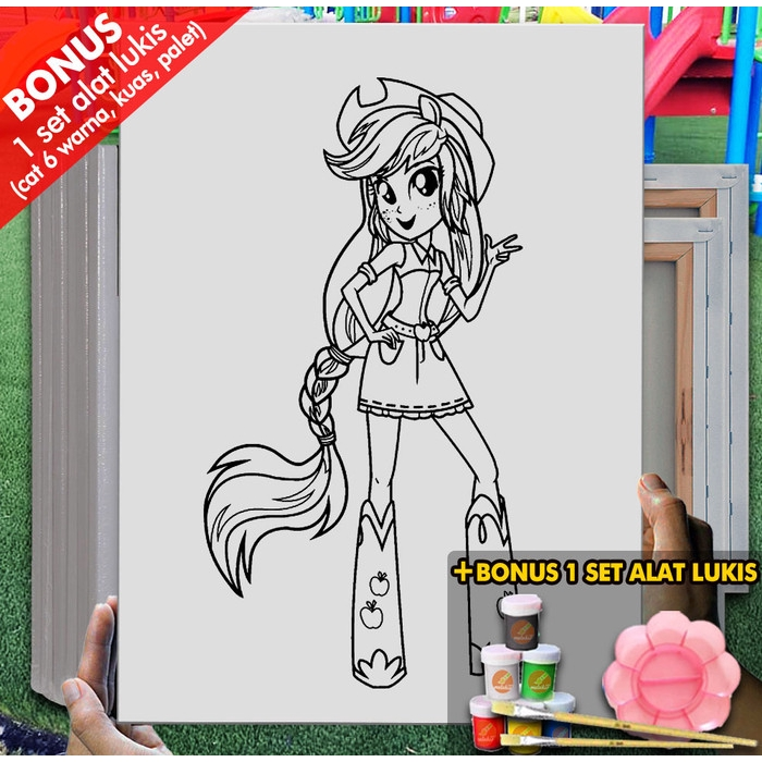 Kanvas Gambar Mainan My Little Pony Manusia 30x40 Cm Mel1148 Mewarnai Coloring Shopee Indonesia