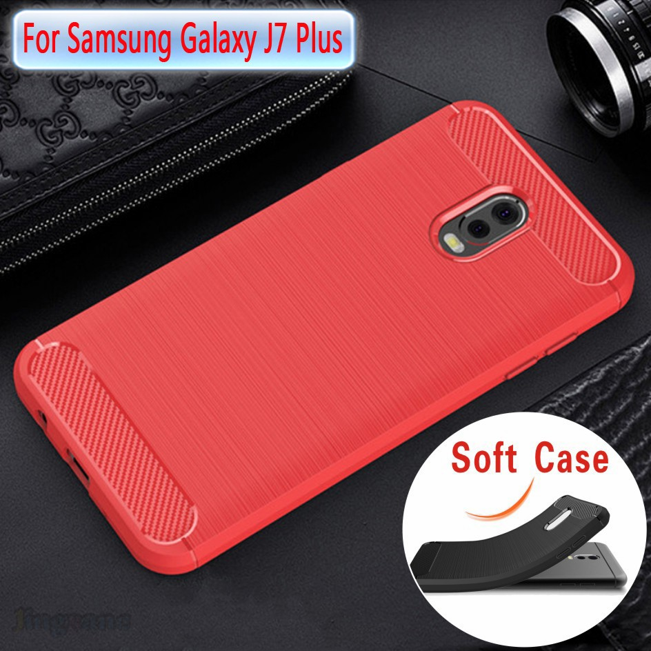 For Samsung Galaxy J7 Plus 2017 J7plus Case Heat Dissipation Soft Sofcase Kotak Putih Phone Cover Casing Caing Shopee Indonesia
