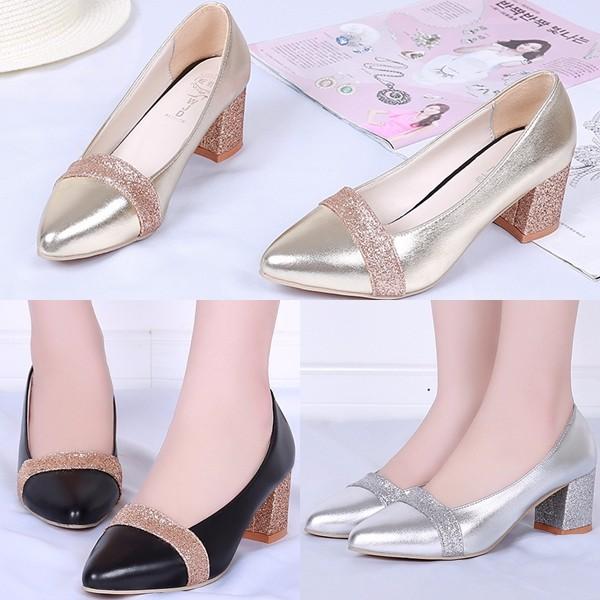 sepatu sandal heels pesta blink gold silver import SHH2180  e46e583ce1