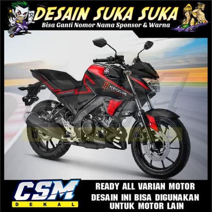 712 Dekal Decal Motor New Vixion R 2018 Stiker Sticker Striping Body Merah Monster Shopee Indonesia