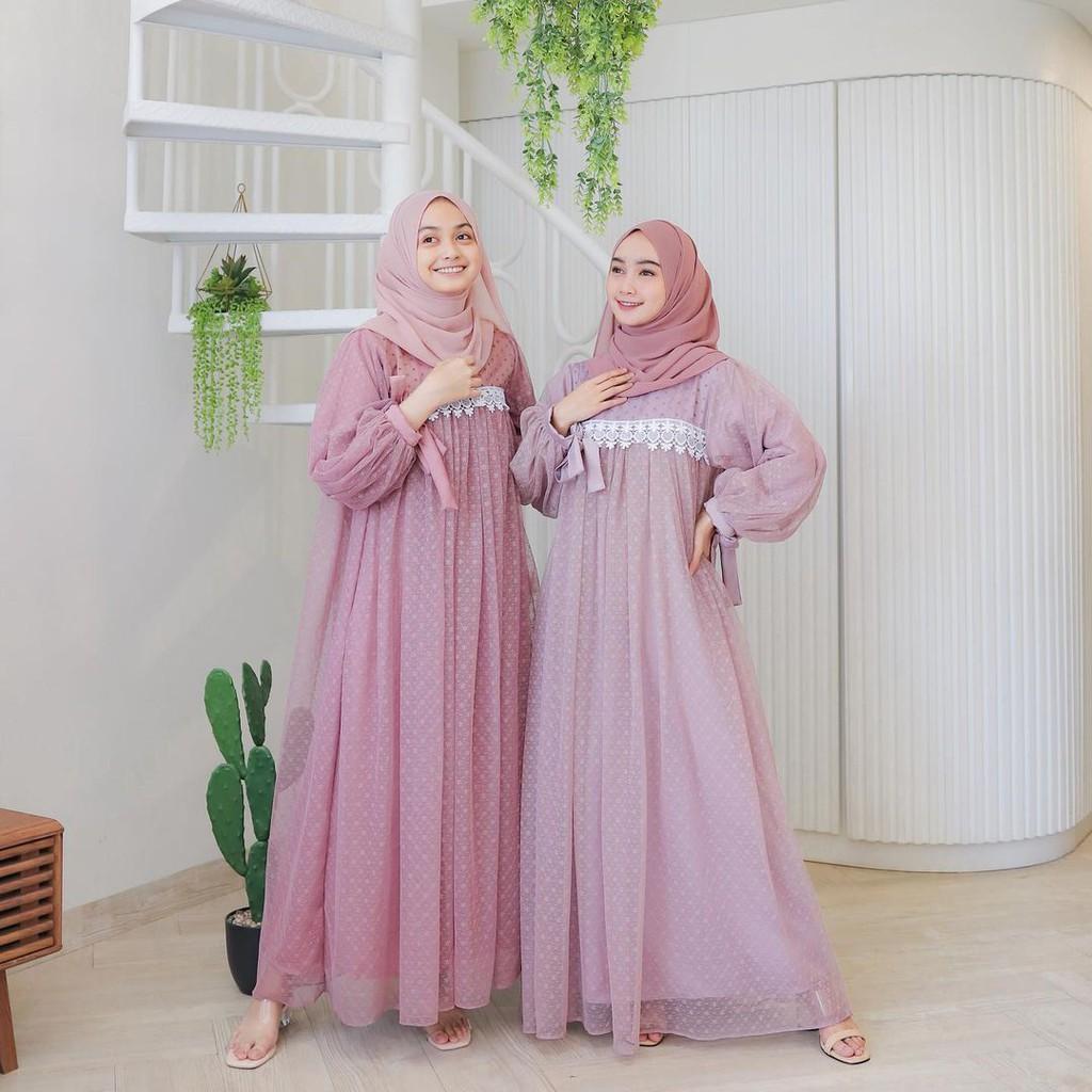 Ivora Maxy Gamis Muslim Kondangan l Dress Edisi Lebaran BJ