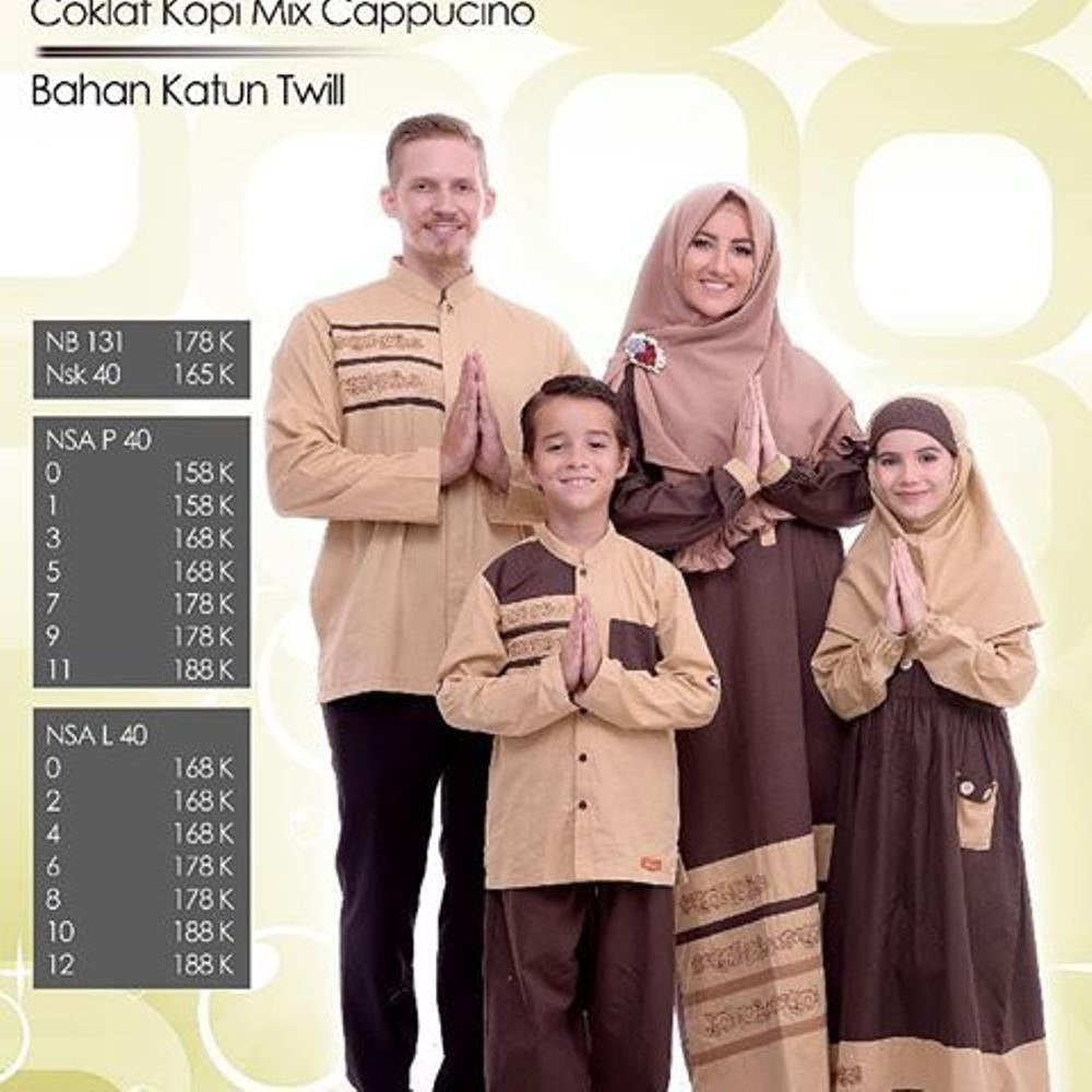 Promo Diskon Sarimbit Family Couple Keluarga Nibras 40 Coklat Kopi Bahan Wallpeach Premiu Limited Shopee Indonesia
