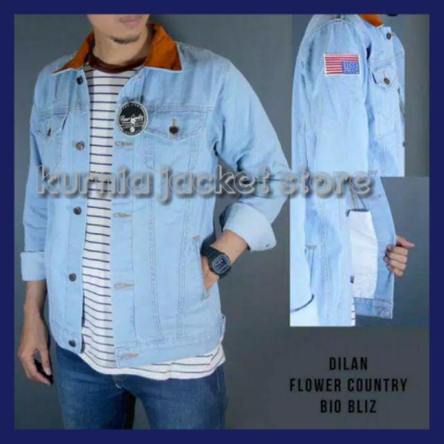 Bisa Bayar Di Tempat Cod Jaket Jeans Dilan Bioblitz Shopee