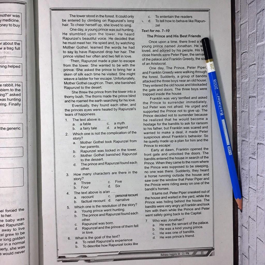 Jawaban Bahasa Inggris Kelas 7 Halaman 142 - Revisi Sekolah