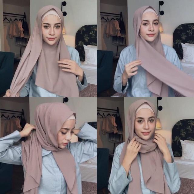 Cala pashmina instan Vanilla hijab ...