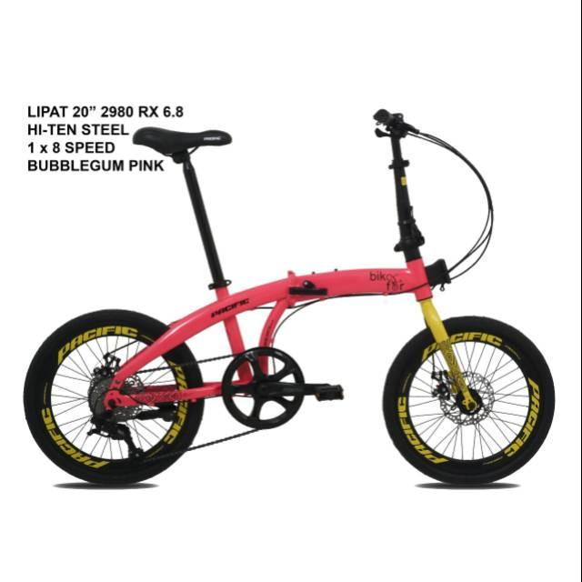 Sepeda Lipat 20 Pacific 2980 Rx 8 0 Shopee Indonesia