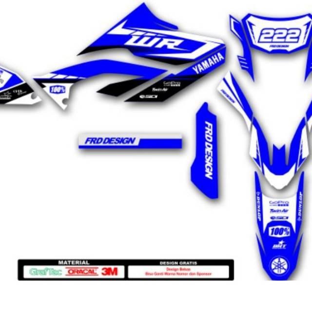 Decal yamaha wr155 biru putih