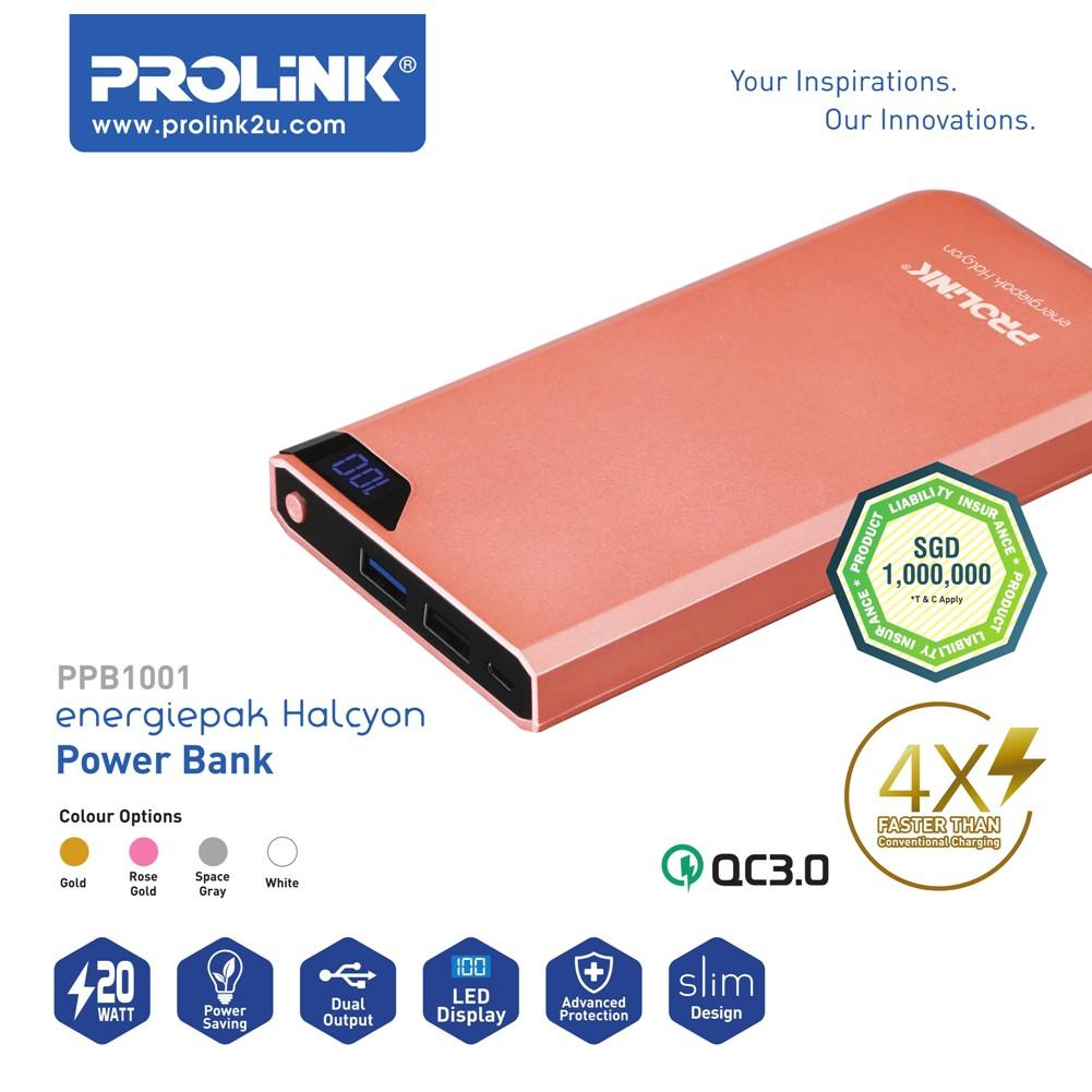 Prolink PPB1001 Power Bank Qualcomm 3.0 10000 mAh