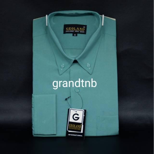Kemeja pria geoland hijau mint  4f8c629120