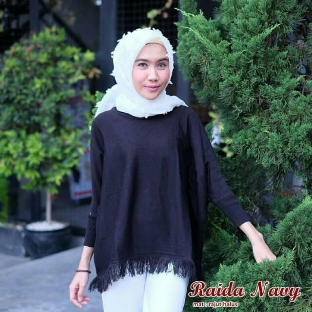 Sweater Rumbai Bawah   Pakaian Atasan Wanita   Baju Outer  6a1bef04c0
