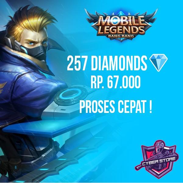 Top Up Diamond Mobile Legends Termurah / 257 Diamond.