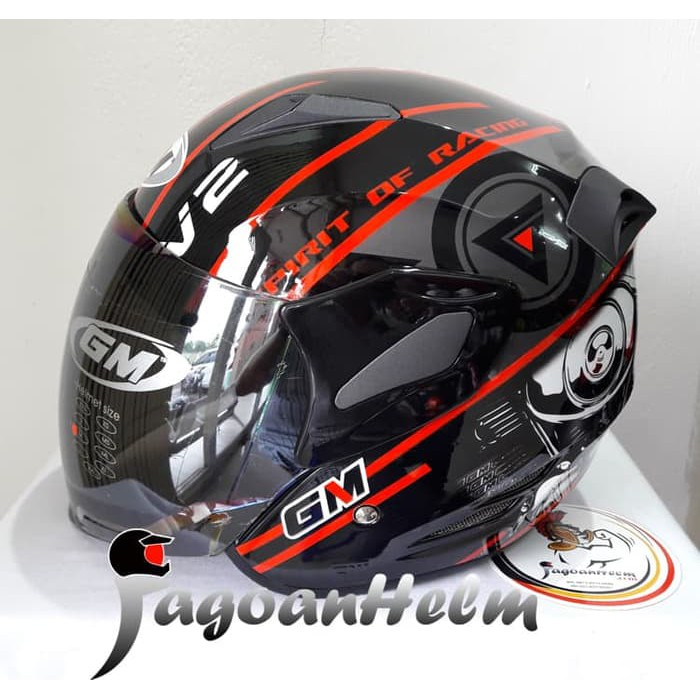 2a30e974 HELM GM INTERCEPTOR 9 PILIHAN WARNA DOUBLE VISOR / GM INTER CEPTOR | Shopee  Indonesia
