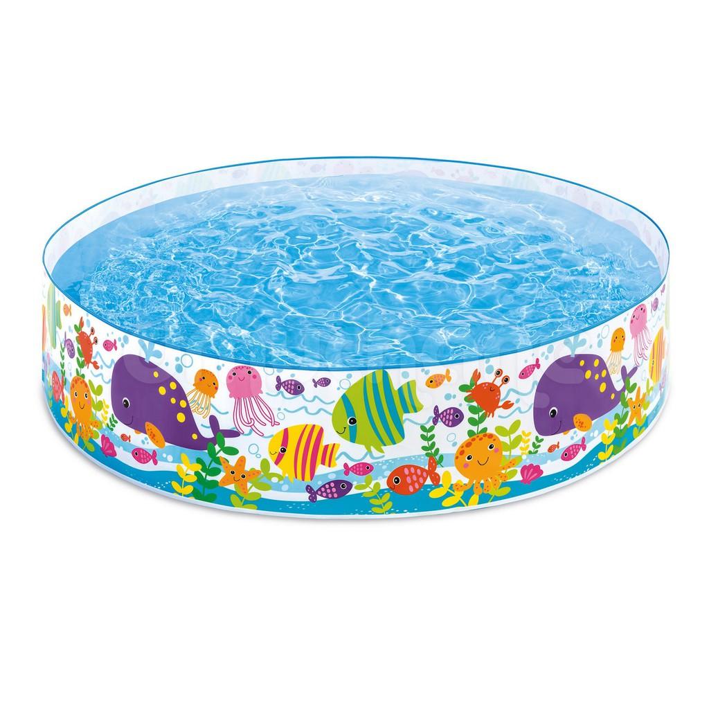 Kolam Renang Anak Tanpa Pompa Snap Set Pool Intex 56452 Swim Center See Through Round 57489 Blue Karet 57412 114cm Shopee Indonesia
