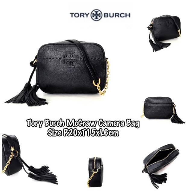 5e5cf3cf729 Tory burch mcgraw camera bag rtb583