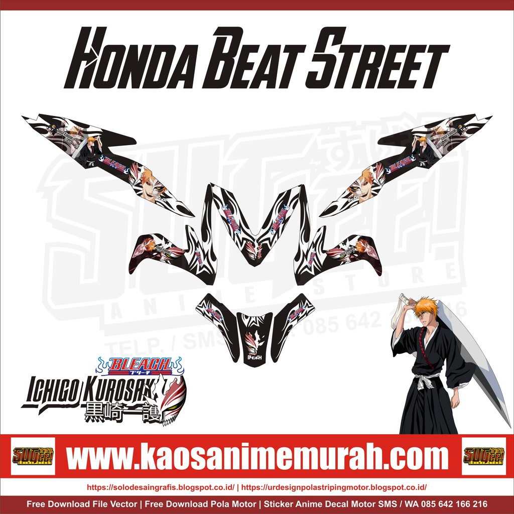 Sticker anime decal motor honda all new beat kaneki tokyo ghoul shopee indonesia