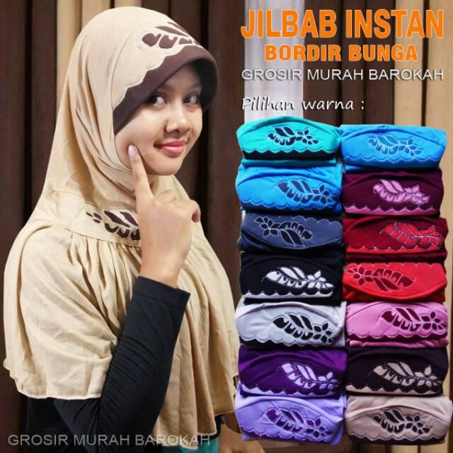 Hijab Ixora Instant Mutiara Jilbab Rempel Jilbab Motif