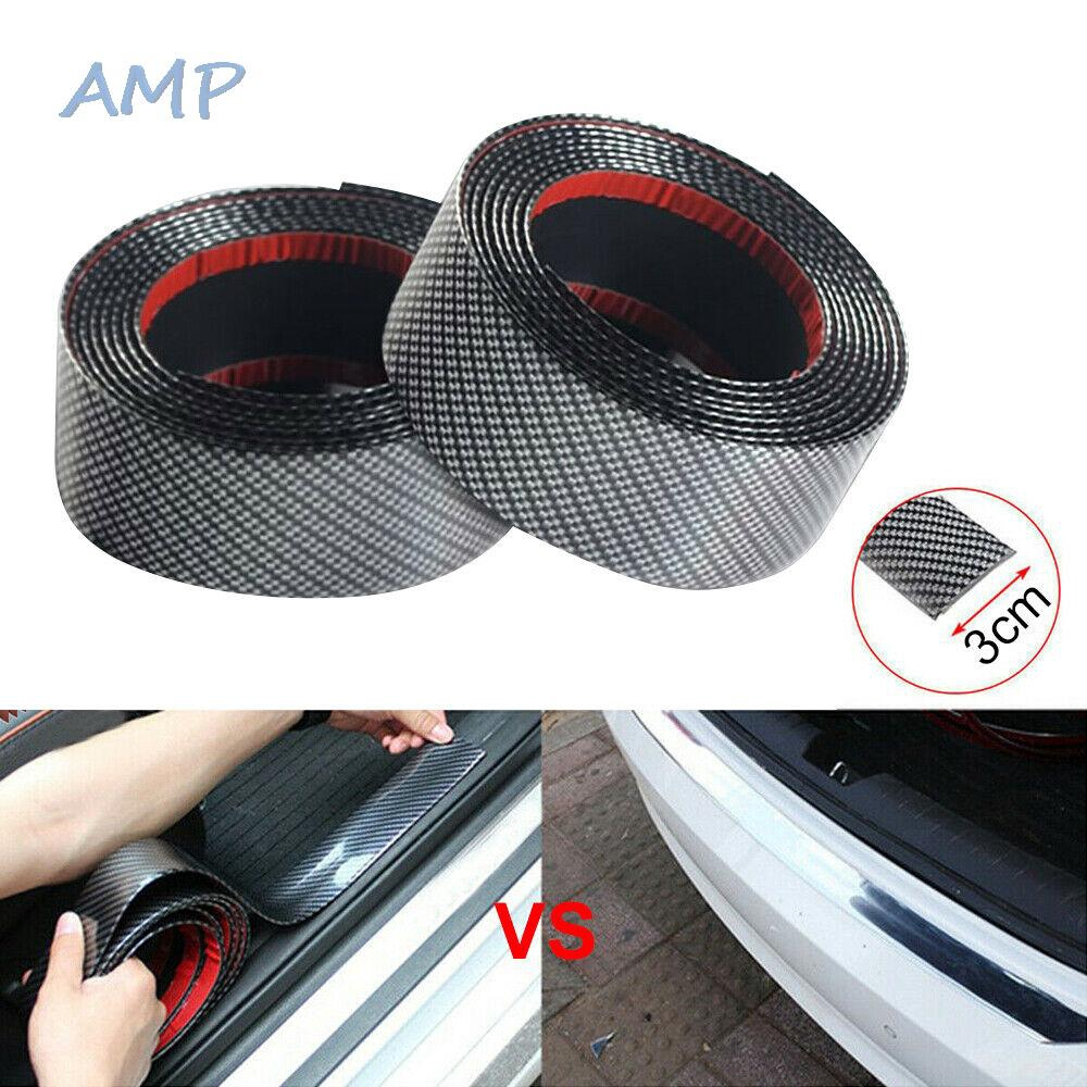 Car Carbon Fiber Rubber Edge Guard Strip Door Sill Protector Accessories 3CM*1M
