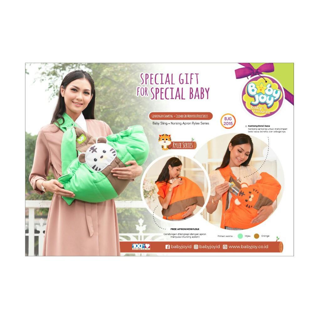 Baby Joy BJG2015 Gendongan Samping + Celemek Ibu Menyusui Rylee Series