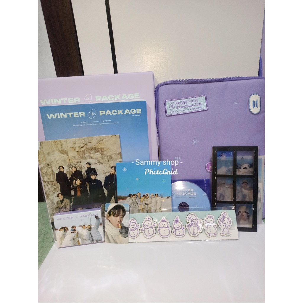 Ready Stock Sharing BTS Winter Package 2021 Pouch 6 Cut V