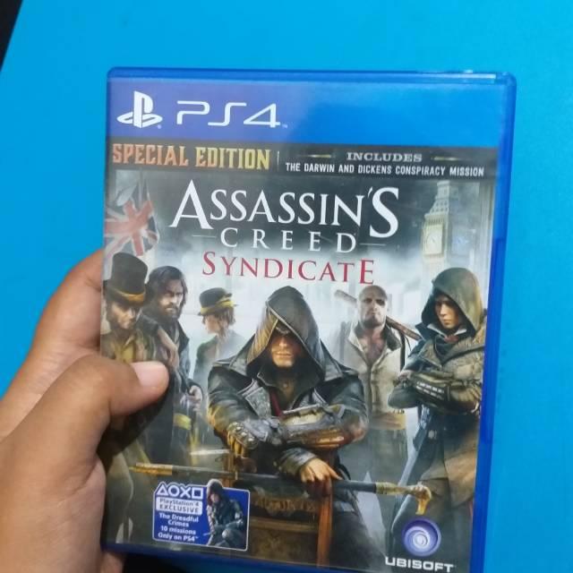 Bd Dvd Kaset Game Ps4 Assassins Creed Syndicate Bekas Shopee
