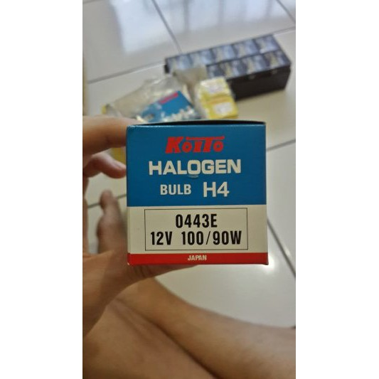 Bohlam Halogen H4 Koito 12V 100/90W P43t-38 Lampu Mobil Made in Japan Original | Shopee Indonesia