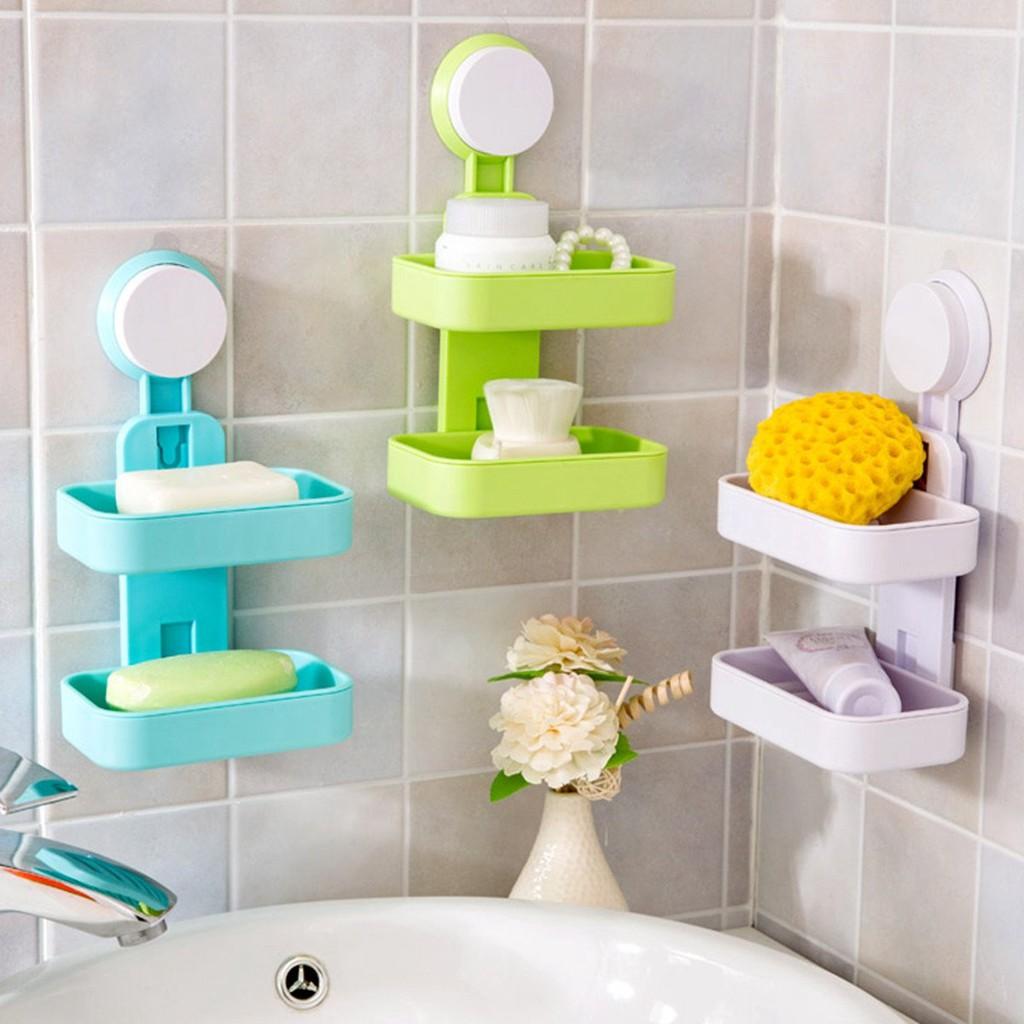 324 Rak Tempat Sabun Plastik 2 Susun Serbaguna Rak Kamar Mandi 2 Tingkat Shopee Indonesia Rak sabun di kamar mandi