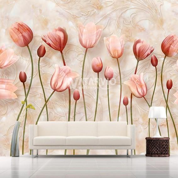 Wallpaper Motif Bunga Wallpaper Dinding Custom Bunga 3d Shopee Indonesia