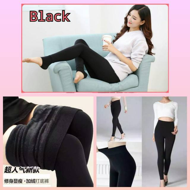 Legging Thermal Winter Tebal Celana Legging Dalaman Gamis Shopee Indonesia