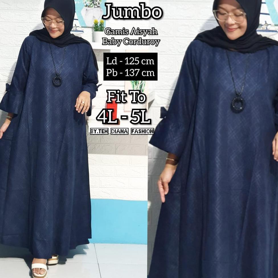 Azr00Baju Gamis Wanita Jumbo  2020 / Gamis Wanita Elegant / Model Aisyah Edisi Lebaran ,.