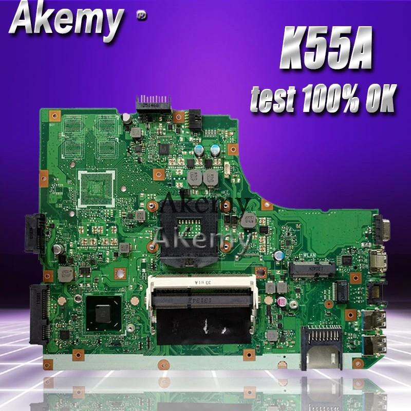 Motherboard Akemy K55a Laptop Motherboard For Asus K55a A55v K55vd K55v K55 Test Original Shopee Indonesia