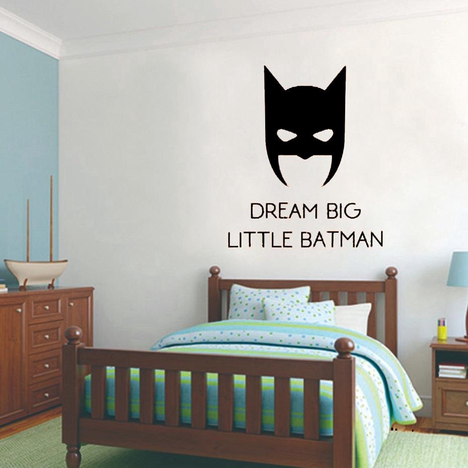 Stiker Dinding Dengan Perekat Dan Gambar Batman Batman Untuk Kamar Tidur Ruang Keluarga Shopee Indonesia