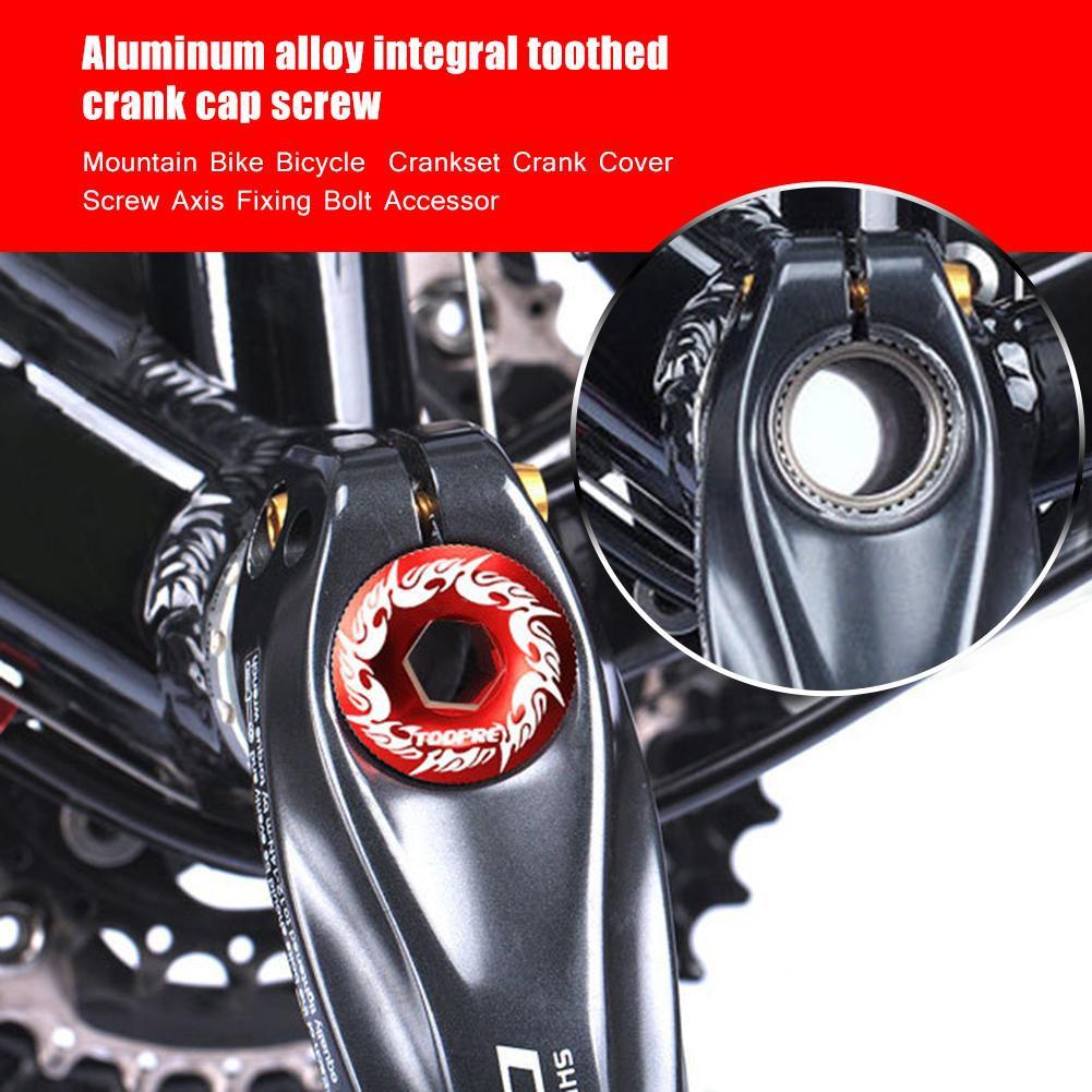 Aluminum BB Axis Screw Cap  Mountain Bike Bicycle Bolt Crankset Crank Cover