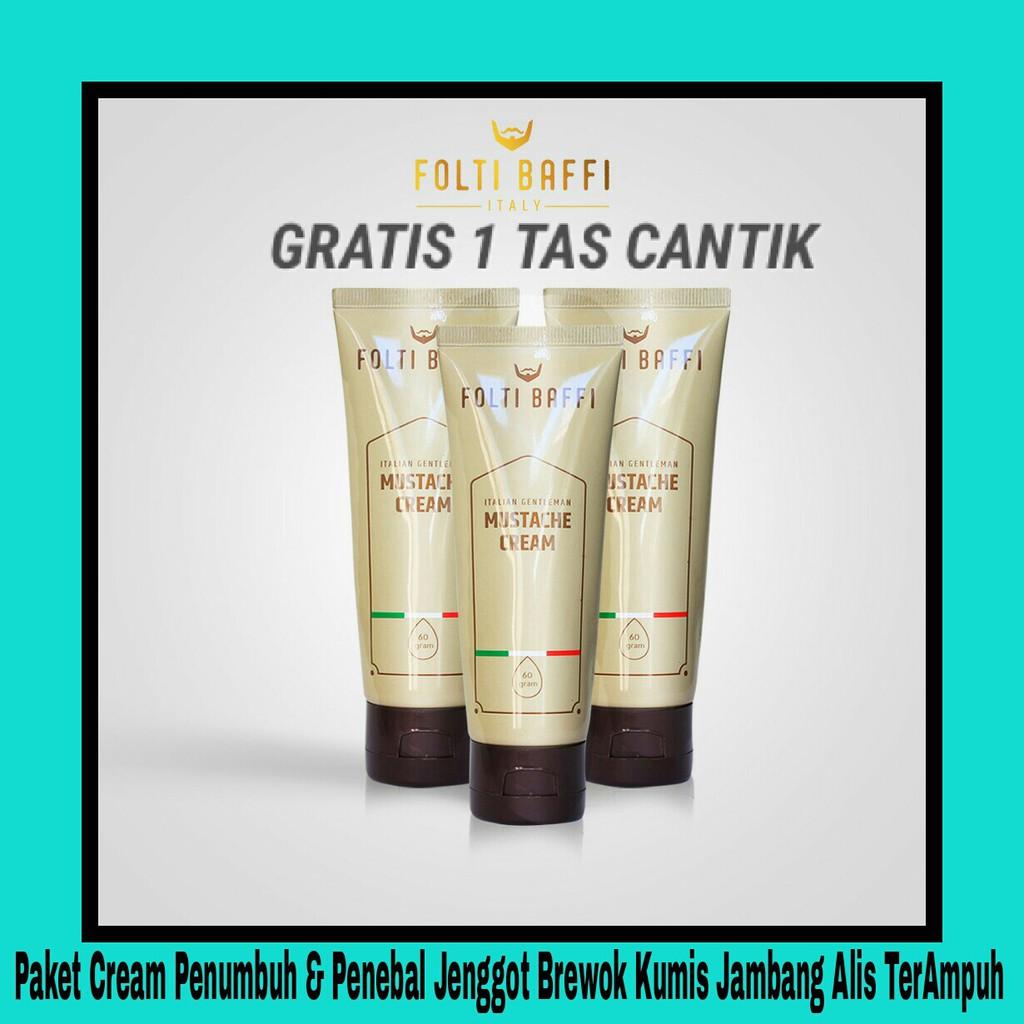 Folti Baffi Cream Penumbuh Bulu Jambang Jenggot Brewok Kumis dan Penebal Alis AMPUH ASLI TERLARIS | Shopee Indonesia