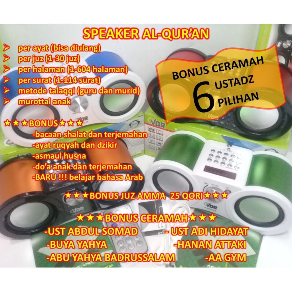 Speaker Al Quran Advance Murottaltp 600 Murottal 25 Qori Radio Model Memori 8gb Original C10 Aa Gym Shopee Indonesia