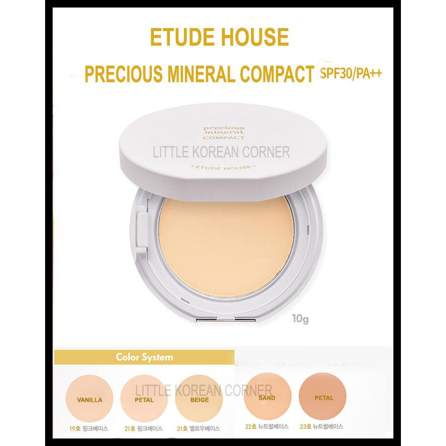 ETUDE HOUSE PRECIOUS MINERAL BB BRIGHT FIT COMPACT POWDER BEDAK PADAT DISKON | Shopee Indonesia