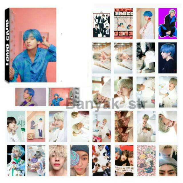 Ready Stock Photocard V Bts Idol Boy With Luv Map Of The Soul Isi 30pcs Shopee Indonesia