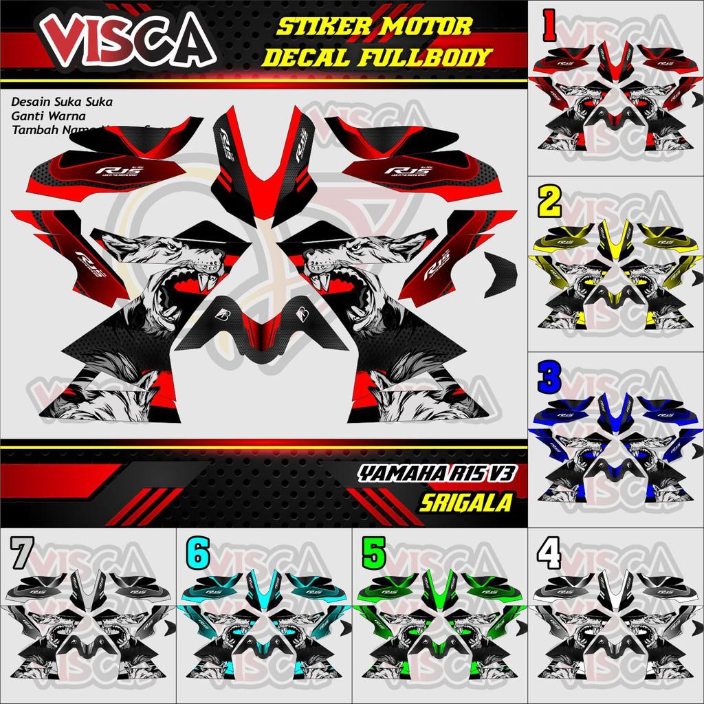 Cod Decal R15 V3 Srigala Decal R15 V3 Wolf Stiker Motor R15 Decal Stiker R15 V3 Decal Motor R15 V3 Shopee Indonesia